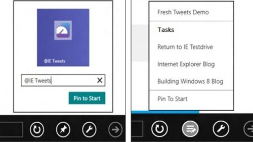 Windows8系統中IE10浏覽器固定站點功能