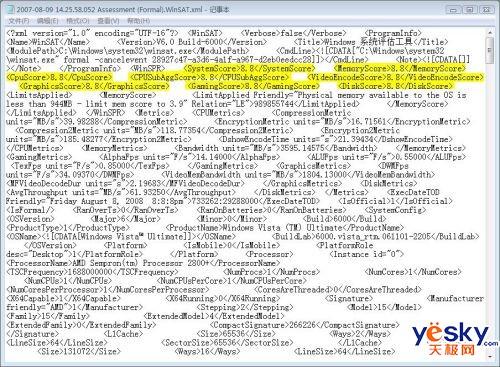 個性化Windows Vista 體驗索引分數2