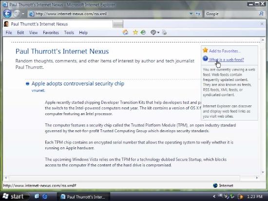 WinVista系統中IE7.0功能特性截圖欣賞