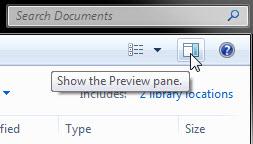 Windows 7中的預覽要簡便很多