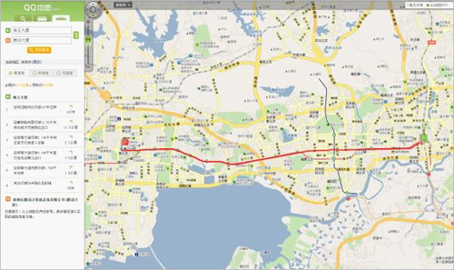 如何使用SOSO地圖駕車搜索
