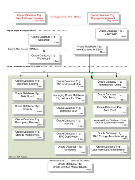 Oracle11g認證體系結構